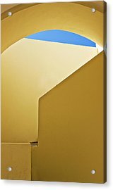 Abstract Architecture In Yellow Acrylic Print by Meirion Matthias