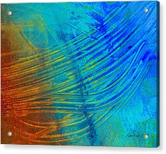 Abstract Art  Painting Freefall By Ann Powell Acrylic Print by Ann Powell