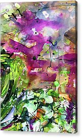 Abstract Arti 1 By Ginette Acrylic Print by Ginette Callaway