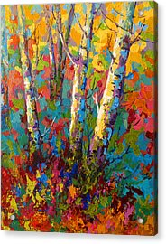 Abstract Autumn II Acrylic Print by Marion Rose