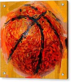 Abstract Basketball Acrylic Print by David G Paul