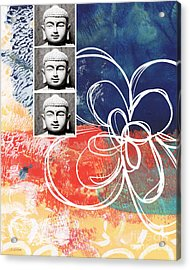 Abstract Buddha Acrylic Print by Linda Woods