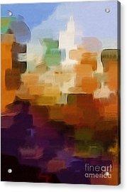 Abstract Cityscape Acrylic Print by Lutz Baar
