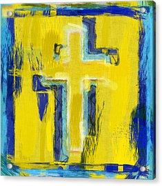 Abstract Crosses Acrylic Print by David G Paul