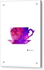 Abstract Cup Of Tea Silhouette Acrylic Print by Joanna Szmerdt