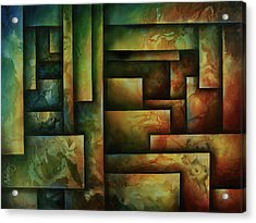 Abstract Design 102 Acrylic Print by Michael Lang