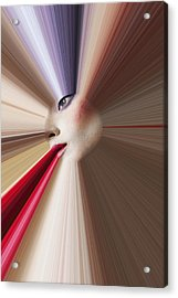 Abstract Face Acrylic Print by Garry Gay