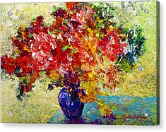 Abstract Floral 1 Acrylic Print by Marion Rose