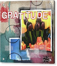 Abstract Gratitude Acrylic Print by Linda Woods