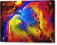 Abstract Landscape Acrylic Print by Gina Roseanne