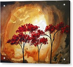 Abstract Landscape Painting Empty Nest 2 By Madart Acrylic Print by Megan Duncanson