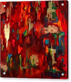 Abstract Love Acrylic Print by Billie Colson