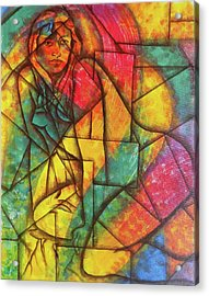 Abstract Of A Beautiful Nude Lady Acrylic Print by Arun Sivaprasad