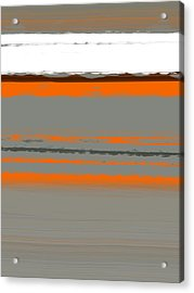 Abstract Orange 2 Acrylic Print by Naxart Studio