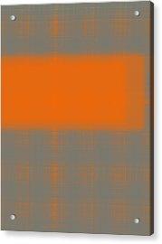 Abstract Orange 3 Acrylic Print by Naxart Studio