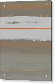 Abstract Orange 4 Acrylic Print by Naxart Studio