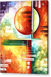 Abstract Original Art Contemporary Colorful Painting By Megan Duncanson Color Explosion I Madart Acrylic Print by Megan Duncanson