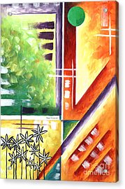 Abstract Original Art Contemporary Colorful Painting By Megan Duncanson Color Explosion IIi Madart Acrylic Print by Megan Duncanson