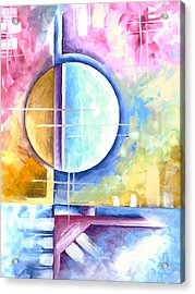 Abstract Original Art Contemporary Colorful Painting By Megan Duncanson Spring Fever I Madart Acrylic Print by Megan Duncanson