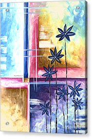 Abstract Original Art Contemporary Colorful Painting By Megan Duncanson Spring Fever II Madart Acrylic Print by Megan Duncanson