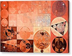 Abstract Painting - Mandys Pink Acrylic Print by Vitaliy Gladkiy
