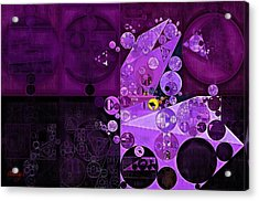 Abstract Painting - Rich Lilac Acrylic Print by Vitaliy Gladkiy