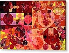 Abstract Painting - Salmon Acrylic Print by Vitaliy Gladkiy