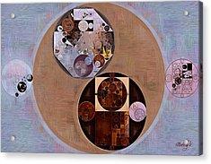 Abstract Painting - Seal Brown Acrylic Print by Vitaliy Gladkiy