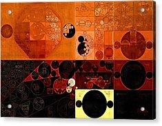 Abstract Painting - Sinopia Acrylic Print by Vitaliy Gladkiy