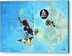Abstract Painting - Viking Acrylic Print by Vitaliy Gladkiy