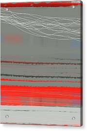 Abstract Red 2 Acrylic Print by Naxart Studio