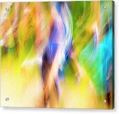Abstract Running Acrylic Print by Steven Ralser