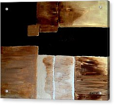 Abstract Squares Acrylic Print by Marsha Heiken