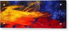Abstract - Throw  Acrylic Print by Sir Josef Social Critic - ART