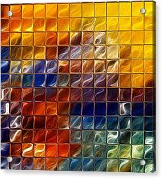 Abstract -tiles Acrylic Print by Patricia Motley