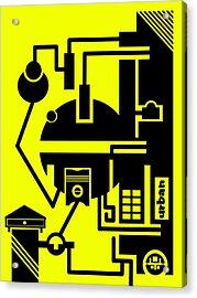 Abstract Urban 03 Acrylic Print by Dar Geloni