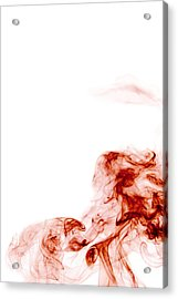 Abstract Vertical Blood Red Mood Colored Smoke Wall Art 01 Acrylic Print by Alexandra K