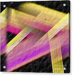 Abstract With A Black Background Acrylic Print by John Krakora