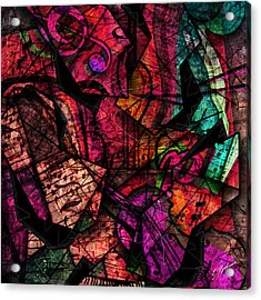 Abstracta_11 Cacophony In Z Minor Acrylic Print by Gary Bodnar