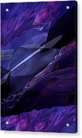 Abstractbr6-1 Acrylic Print by David Lane