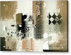 Abstracture - 21gold01 Acrylic Print by Variance Collections