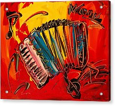 Accordeon Acrylic Print by Mark Kazav