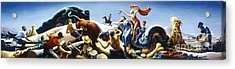 Achelous And Hercules Acrylic Print by Pg Reproductions