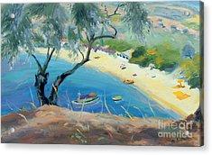 Achladies Bay - Skiathos - Greece Acrylic Print by Anne Durham