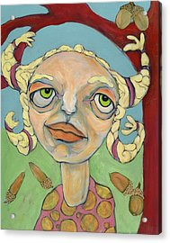 Acorns Acrylic Print by Michelle Spiziri