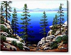 Across Lake Tahoe Acrylic Print by Frank Wilson