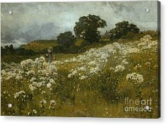 Across The Fields Acrylic Print by John Mallord Bromley