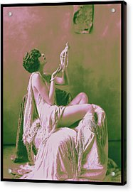 Actress Billie Dove Circa 1925 Acrylic Print by Rosie Mills