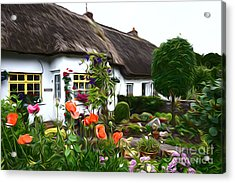 Adare Cottages Acrylic Print by Andrew Michael
