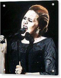 Adele Acrylic Print by Gary Boyle